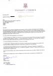 深圳大学学生获得利莫瑞克大学商务管理录取通知书